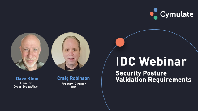 Security Posture Validation Requirements