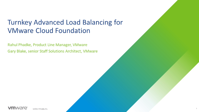 Turnkey Advanced Load Balancing for VMware Cloud Foundation