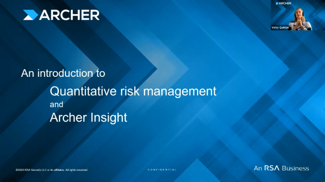 An introduction to Quantitative Risk Management and Archer Insight