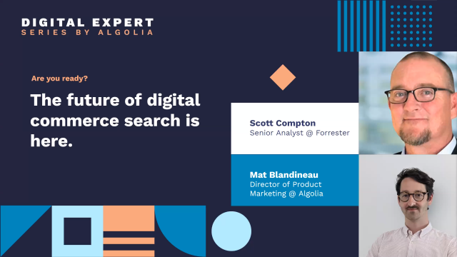 The future of digital commerce search is here... by Forrester & Algolia