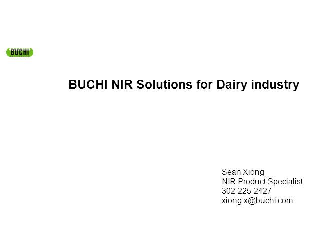NIRSolutions for the Dairy Industry