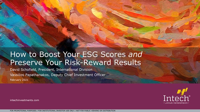 How to Boost Your ESG Scores and Preserve Your Risk-Reward Results