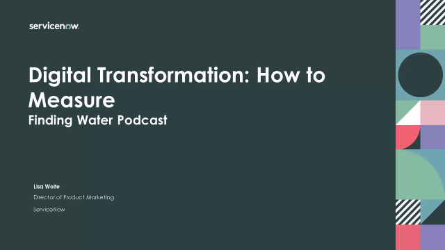 Digital Transformation: How to Measure- Finding Water Podcast