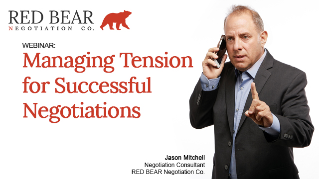 Managing Tension for Successful Negotiations