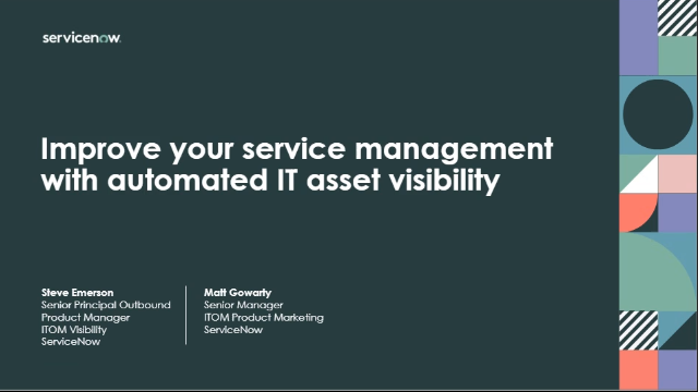 Improve your service management with automated IT asset visibility