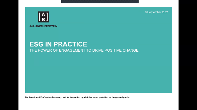 ESG in Practice: The Power of Engagement to Drive Positive Change
