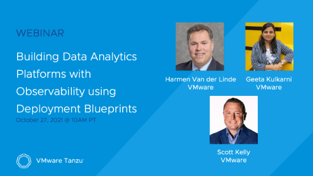 Building Data Analytics Platforms with Observability using Deployment Blueprints