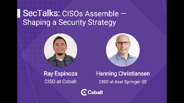 CISOs Assemble: Shaping a Security Strategy