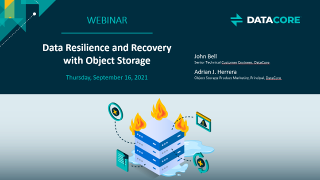 Data Resilience and Recovery with Object Storage