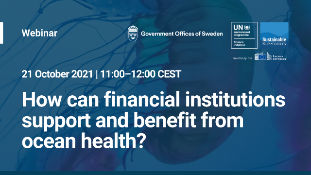 How can financial institutions support and benefit from ocean health?
