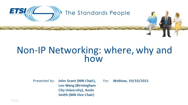 Non-IP Networking: where, why and how