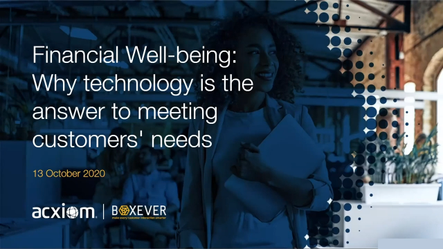 Financial Well-being: Why technology is the answer to meeting customers' needs