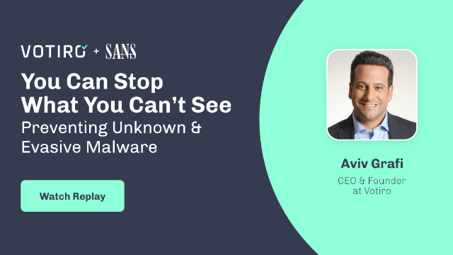 SANS Forum Webcast: You CAN Prevent What You Can't See