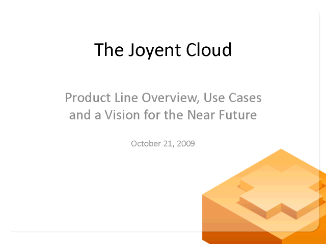 Joyent's Products - The Details