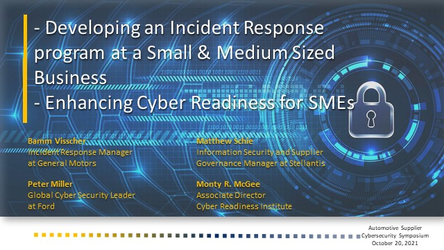 Developing an Incident Response program at Small & Medium Sized Business