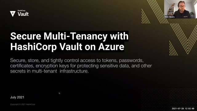 Secure Multi Tenancy with HashiCorp Vault on Azure