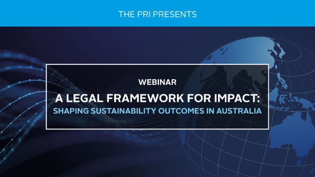 A Legal Framework for Impact AUS: Can Investors Pursue Sustainability Outcomes?