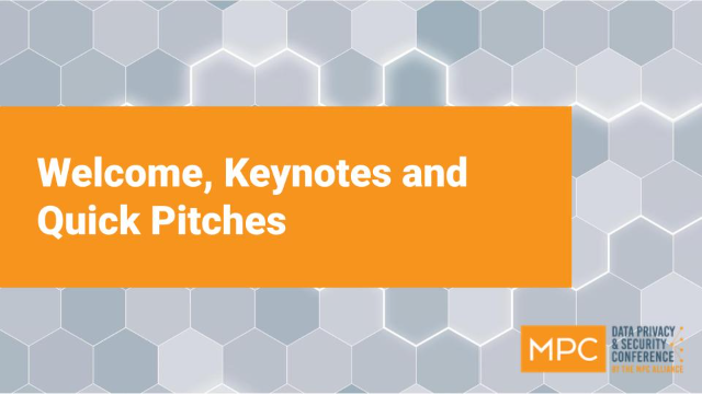 Welcome, Keynotes and Quick Pitches