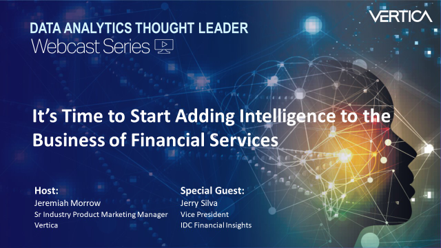 It's Time to Start Adding Intelligence to the Business of Financial Services