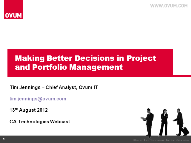 Making Better Decisions in Project and Portfolio Management