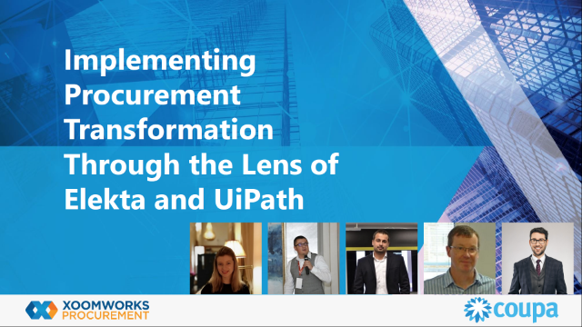 Implementing Procurement Transformation Through the Lens of Elekta and UiPath