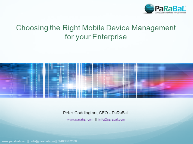 Choosing the right Mobile Device Management for Your Enterprise