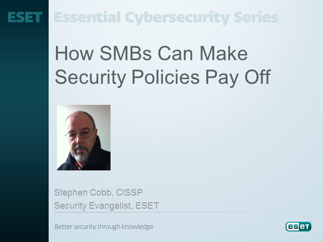 How SMB's Can Make Security Policies Pay Off