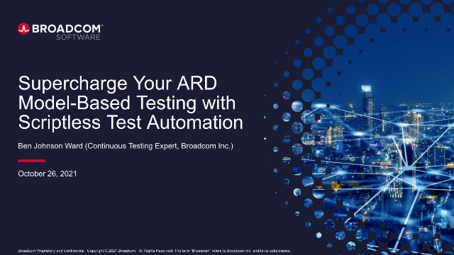 Supercharge Your ARD Model-Based Testing with Scriptless Test Automation