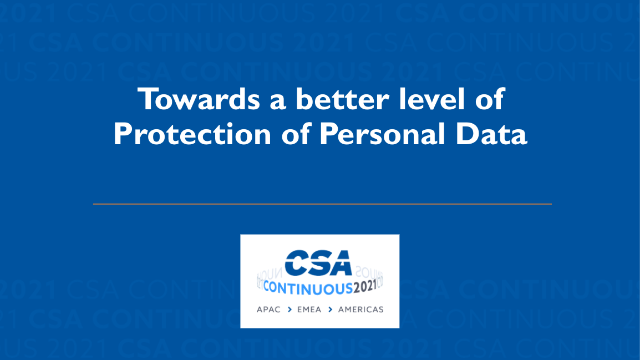 Towards a Better Level of Protection of Personal Data