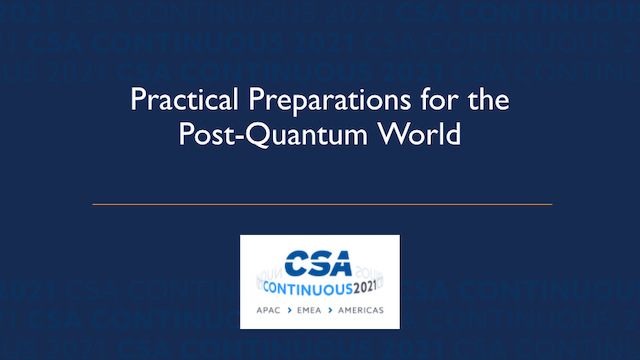 Practical Preparations for the Post-Quantum World