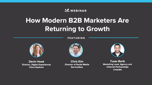 How Modern B2B Marketers are Returning to Growth