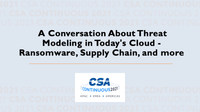 A Conversation About Threat Modeling in Today's Cloud
