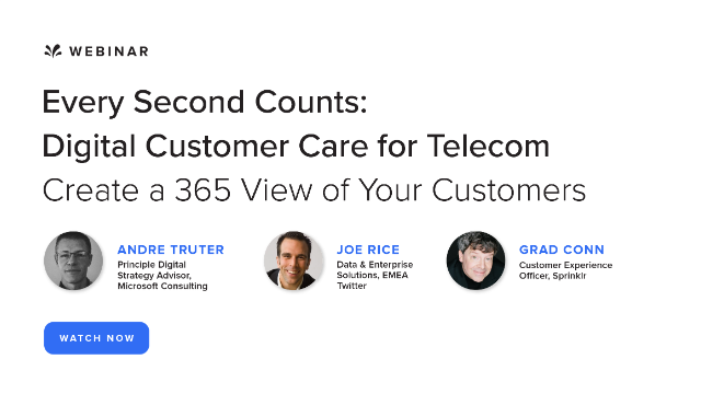 Every Second Counts: Digital Customer Care for Telecoms