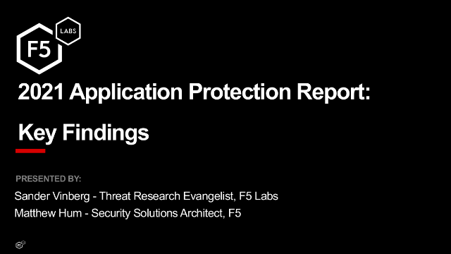 2021 Application Protection Report Findings: Ransomware and Unsecured APIs