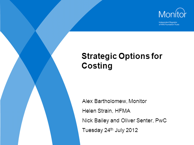 Strategic Options for Costing