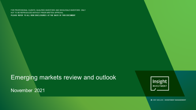 Insight's emerging markets review and outlook - November 2021