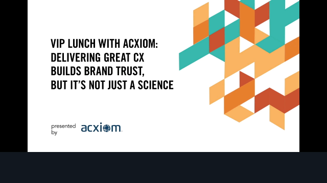 Delivering Great CX Builds Brand Trust but its not just a Science