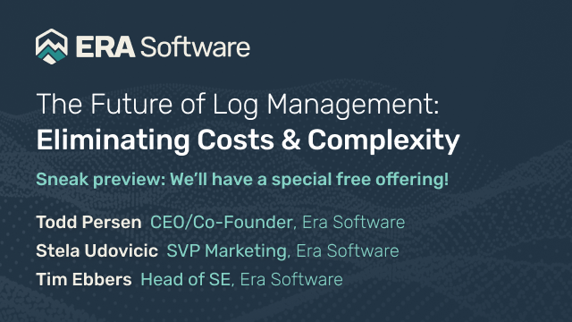 The Future of Log Management: Eliminating Costs and Complexity