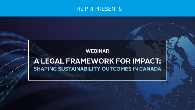 A Legal Framework for Impact: Shaping Sustainability Outcomes in Canada