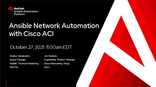 Ansible network automation with Cisco ACI