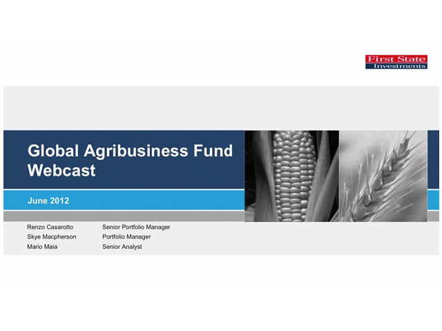 First State Global Agribusiness Fund investment update