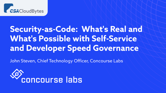 What's Real & What's Possible with Self-Service and Developer Speed Governance