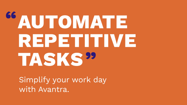 Automate repetitive tasks with Avantra