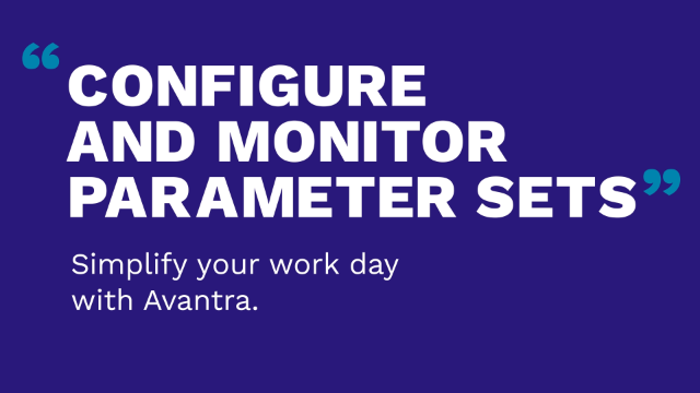 Configure and monitor parameter sets with Avantra