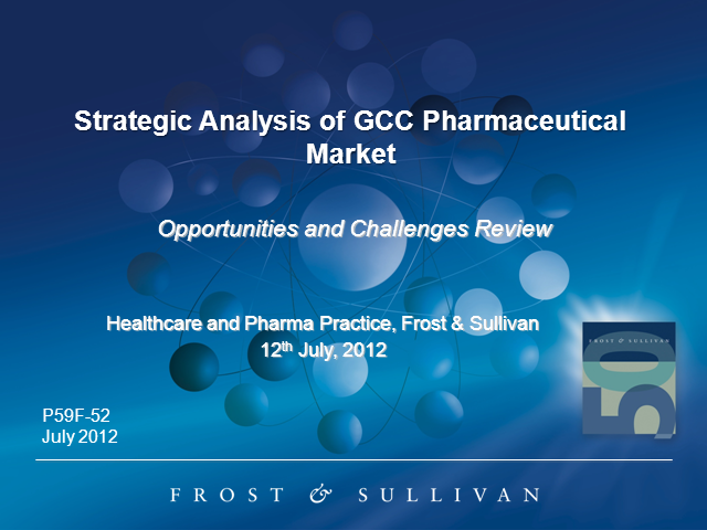 Strategic Analysis of GCC Pharmaceutical Market Overview and Outlook