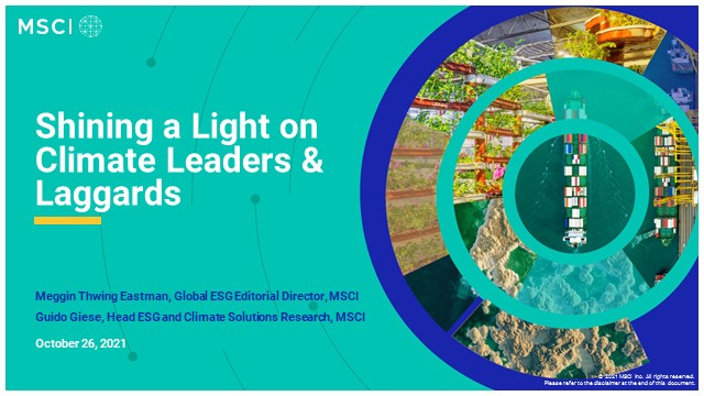 Shining a light on climate leaders and laggards