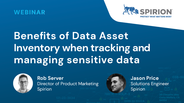 Benefits of Data Asset Inventory when Tracking and Managing Sensitive Data