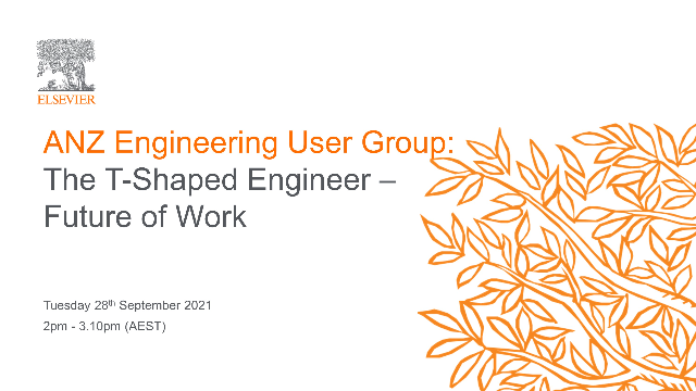 Engineering User Group (ANZ): The T-Shaped Engineer – Future of Work