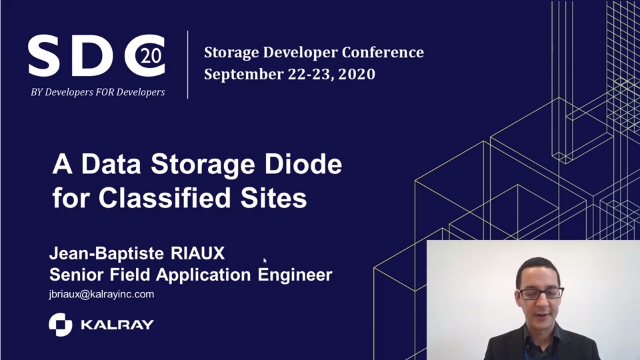 A Data Storage Diode for Classified Sites - Storage Developer Conference