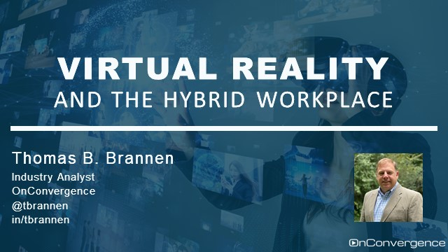 Virtual Reality and the Hybrid Workplace